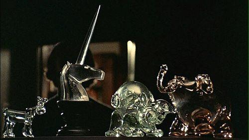 Black Christmas crystal unicorn